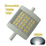 qlee R7s LED Leuchtmittel 78mm 7,9cm dimmbar 10W Tageslicht 6000K AC 230V 1000lm 75W Double Ended J78LED Fluter 100W Halogen Ersatz Lampe
