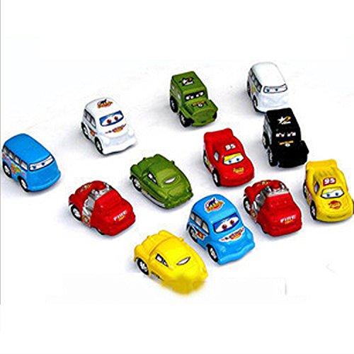 Lusee®6x Pull-Back Mini Modellautos Fahrzeuge Lastwagen Set Lernspielzeug Babyspielzeug Spielzeugautos Trägheit Geschenk für Kind (Zufalliger Muster)