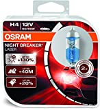 #10: Osram H4 Laser Night Breaker Duo Box 64193NBL-HCB Light (60/55W, 12V, 2 Bulbs)