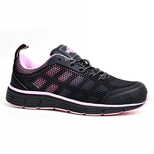 Ladies Steel Toe Cap Saftey Ultra Light Weight Womens Hiking LACE UP Work Trainers Boots Shoes UK Size 3-8