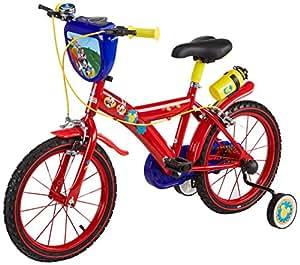 "Disney Mickey Mouse Vélo Enfant Rouge 16"""