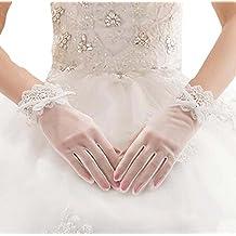 Guantes de novia de encaje accesorios de la boda guantes elegantes para las mujeres