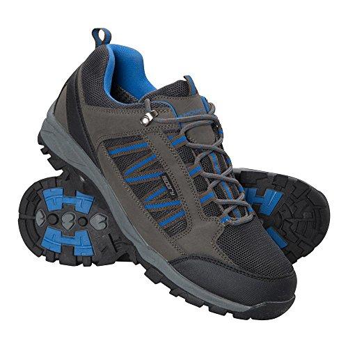 Mountain Warehouse Path Wanderschuhe für Herren - Wasserfeste Fitnessschuhe, atmungsaktive Laufschuhe, Netzfutter und hohe Griffigkeit - Für Stabilität und Bodenhaftung Dunkelgrau 45