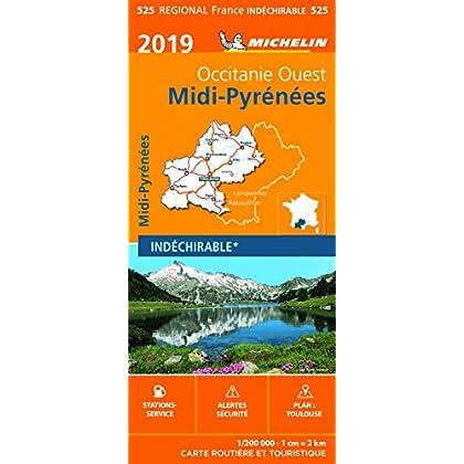 Carte Midi-Pyrénées Michelin 2019