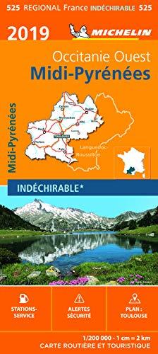 Carte Midi-Pyrénées Michelin 2019 par  Michelin