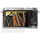 atFoliX Schutzfolie für Olympus SH-1 Displayschutzfolie - 3 x FX-Antireflex blendfreie Folie