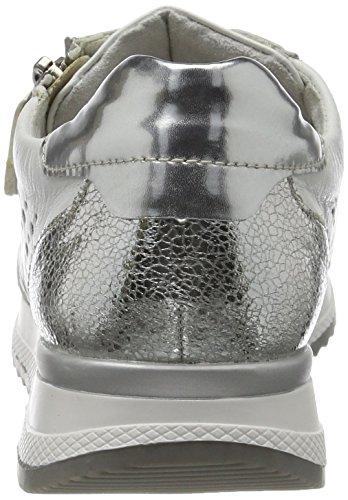 Remonte R7003, Scarpe da Ginnastica Basse Donna Bianco (Silber/argento/weiss/weiss / 80)