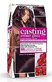 L'Oréal Paris Casting Crème Gloss Coloration Ton Sur Ton Sans Ammoniaque 3.16 Prune Exquise Lot de 2