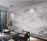 HONGYUANZHANG Landschaftsfernsehhintergrundtapete Der Abstrakten Unbedeutenden Berggewohnheit 3D Foto-Tapete Künstlerische,80Inch (H) X 112Inch (W)