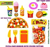 #10: PLUSPOINT Kitchen Role Restaurant Role Pretend Play Fast Food Set Pizza Cutting