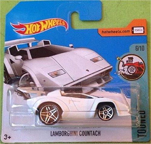HOT WHEELS 2017 Tooned Lamborghini Countach White 54/365 (Short Card) ...