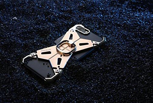 iPhone 7 Plus Hülle Case, Nillkin Barde Serie 2 Shockproof Armor Metall Bumper Case [Einzigartiges Design] [Aktualisierte Version] Rückseitige Abdeckung mit verstärktem 360 Grad Ring Kickstand Schutzh Gold