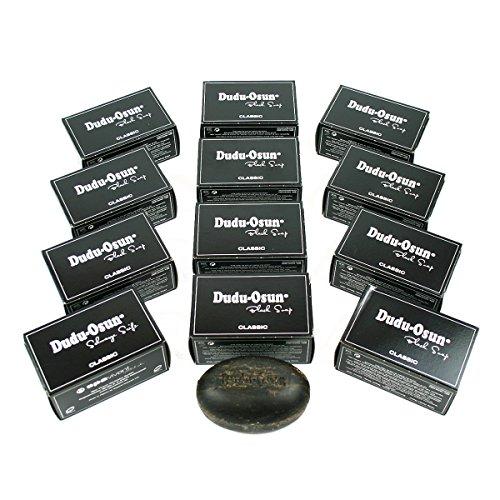 12er Pack Dudu Osun - Schwarze Seife aus Afrika Original Black Soap 12x150g -