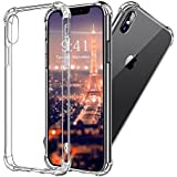 iPhone X Hülle, Vinpie [Liquid Crystal] Soft Flex Silikon [Crystal Clear] Qi-kompatibel Transparent Handyhülle TPU Durchsichtige Schutzhülle für iPhone X Case Cover - Crystal Clear