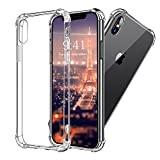 iPhone X Hülle, Vinpie [Liquid Crystal] Soft Flex Silikon [Crystal Clear] Qi-kompatibel Transparent...