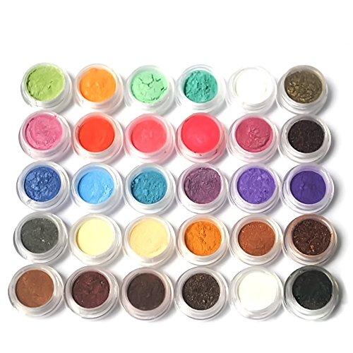 Vococal® 30 Pcs Paillette Shimmer Perle Brillante En Soulignant Les Ombres à Paupières Pigments Couleur Aléatoire Définie