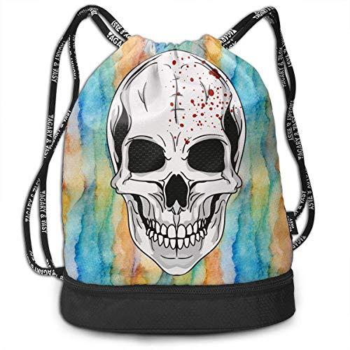 l Men Women Waterproof Drawstring Backpack Rucksack Yoga Dance Travel Shoulder Bags ()
