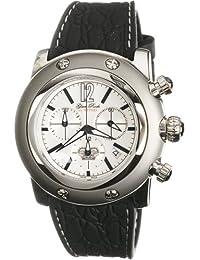 Glam Rock GR30100 - Reloj cronógrafo de caballero de cuarzo con correa de goma negra - sumergible a 100 metros