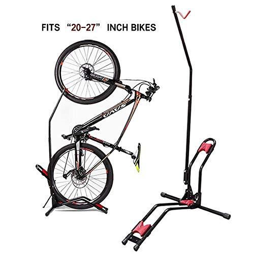 JAPUSOON Fahrradständer, aufrechter Fahrradständer, Verstellbarer Fahrradträger, Vorderrad/Hinterrad/vertikales Parken für Fast alle Fahrräder