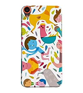 Mental Mind 3D Printed Plastic Back Cover For HTC Desire 820 - 3DHTC820- G831