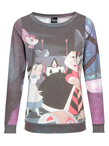 Walt Disney Alice in Wonderland - Garden Felpa donna stampa allover S