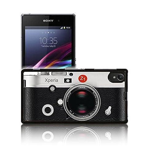 Coque rétro « caméra » pour Sony XPERIA Z1 en polycarbonate rigide