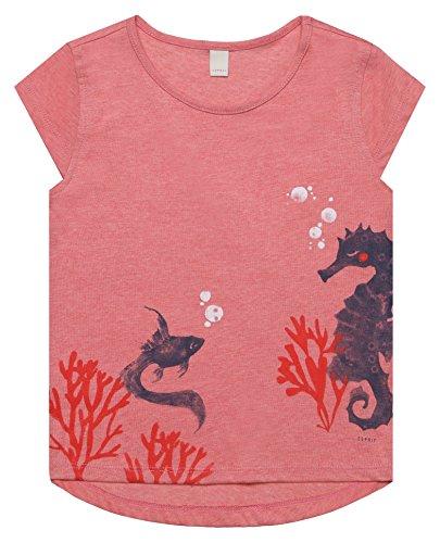 ESPRIT Mädchen T-Shirt RL1022302, Rot (Heather Coral 317), 92 (Herstellergröße: 92/98) (Baby Coral Bekleidung)
