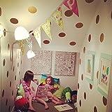 Goldene punkte wandsticker,Flash-gold Mädchen schlafzimmer Dekorative wand-aufkleber-A