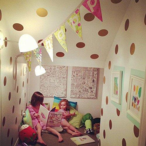 Goldene punkte wandsticker,Flash-gold Mädchen schlafzimmer Dekorative wand-aufkleber-A (Die Flash-wandtattoo)
