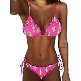 Bikini Brazilian Style,bobo4818 Bikini Set Damen Push Up Bademode (Hot Pink, S)