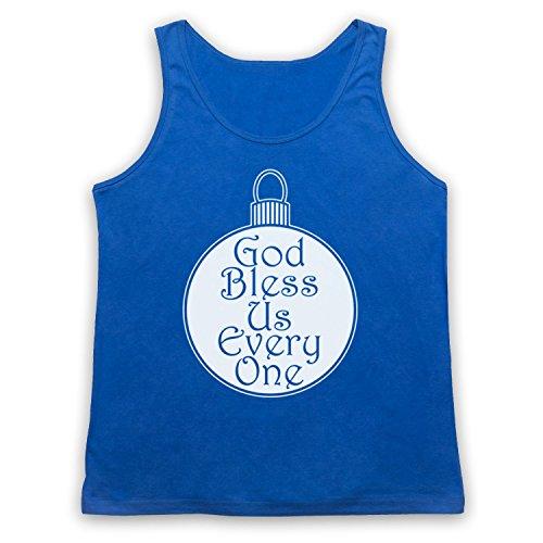 Christmas Carol God Bless Us Every One Tank-Top Weste Blau