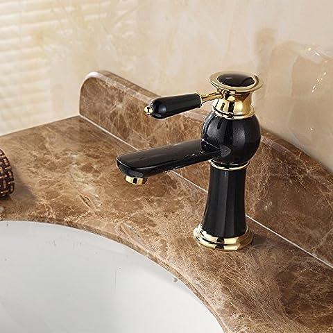 XHDWNBM Rubinetto di lavello Continental retrò Ceramica Porcellana lavandino con acqua calda e fredda del Drago Nero Hotel irradia Impishness