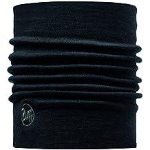 original buff merino lana thermal neckwarmer buff® solid negro - neckwarmer buff para unisex, color multicolor,  adulto