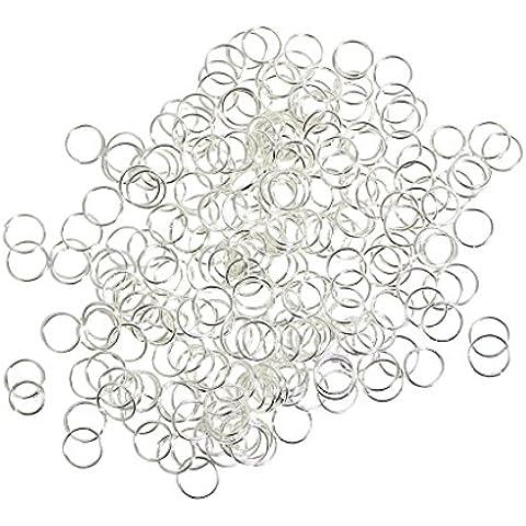 Paquete de 600 anillas de engarce en aleación o chapa de plata de 3 mm, piezas de joyería úitiles para dijes y pendientes por Kurtzy TM