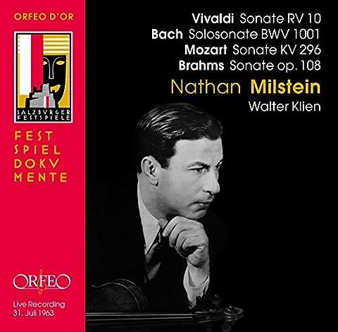 Vivaldi: Sonate RV 10; Bach: Solosonate BWV 1001; Mozart: Sonate