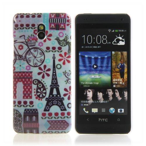 Handy Lux Schutz Hülle Etui Hard Case Cover Motiv für Apple iPhone 5 / 5S / SE - Kette Eule Paris Eiffelturm