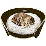 Katzenbett Katzensofa Katzenkörbchen Katzenbettchen Hundebett Tierbett mit Kissen aus Holz
