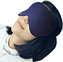 LinkHealth 100% seda natural talla grande mascara de ojo del sueño - mejorar el sueño, aliviar la hinchada, los ojos hinchados, fatiga, dolor de cabeza y tensión