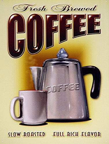 fresh-brewed-coffee-werbung-wand-schild-retro-art
