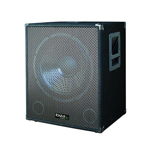Ibiza aktiver PA Subwoofer Bi-Amp (38 cm (15 Zoll), 800 Watt) Sub-amp-box