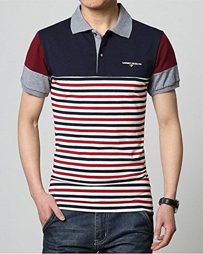 BICMART Herren Poloshirt Blau