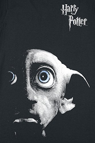 Harry Potter Dobby Face T-shirt Femme noir Noir