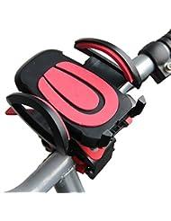 Bike Mount, jtdeal Universal Bike Mount Halter GPS Navigation Clip Fahrrad Halterung mit Kautschuk Band, 360Grad drehbar Fahrrad Halterung Lenker für für IOS Android Smartphone GPS, andere Geräte nur veröffentlicht