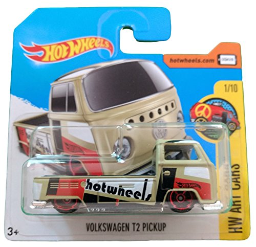 Hot Wheels Volkswagen T2 Pickup - Serie HW Art Cars 1/10 (Short card)