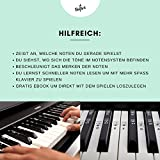 Klavier + Keyboard Noten-Aufkleber für 49   61   76   88 Tasten + Gratis Ebook   Premium Piano Sticker Komplettsatz für schwarze + weisse Tasten   C-D-E-F-G-A-H   einfache Anleitung auf Deutsch - 3