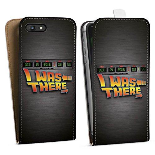 Apple iPhone X Silikon Hülle Case Schutzhülle Zukunft Future Marty Downflip Tasche weiß