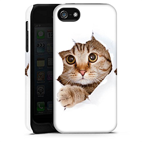 Apple iPhone 4 Housse Étui Silicone Coque Protection Chat Chat Kitten Cas Tough terne