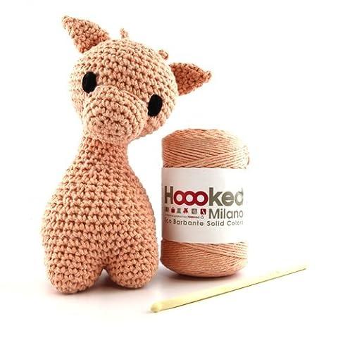 Hoooked Amigurumi Eco Barbante DIY-Häkelset Giraffe (apricot)