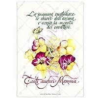 Festa della Mamma, Pergamena regalo, scritta a mano su carta pregiata, completa di cartellina con Marchio oro - Personalizzabile in Calligrafia