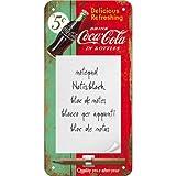 Nostalgic-Art 84038 Coca-Cola - Delicious Refreshing Green, Notizblock-Schild 10x20 cm